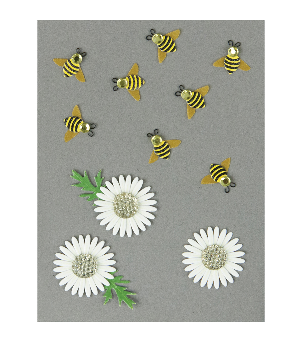 BUMBLE BEES AND DAISIES