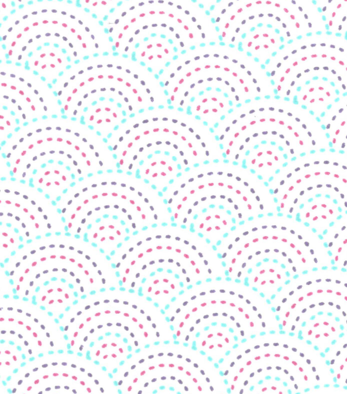 Snuggle Flannel Fabric 42\u0022-Gypsy Dotted Scales White
