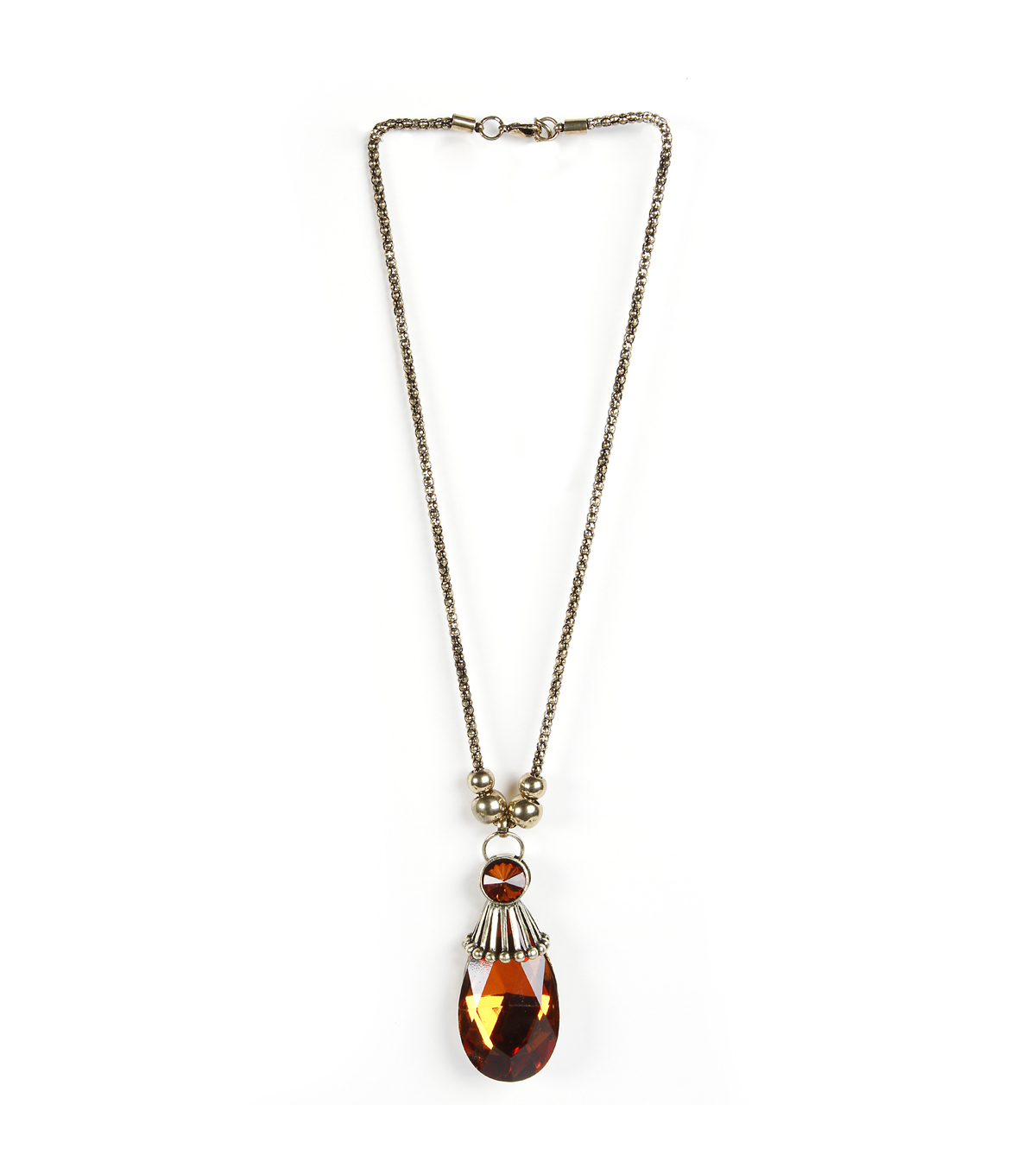Animal Necklace Topaz Tear Drop Pendant