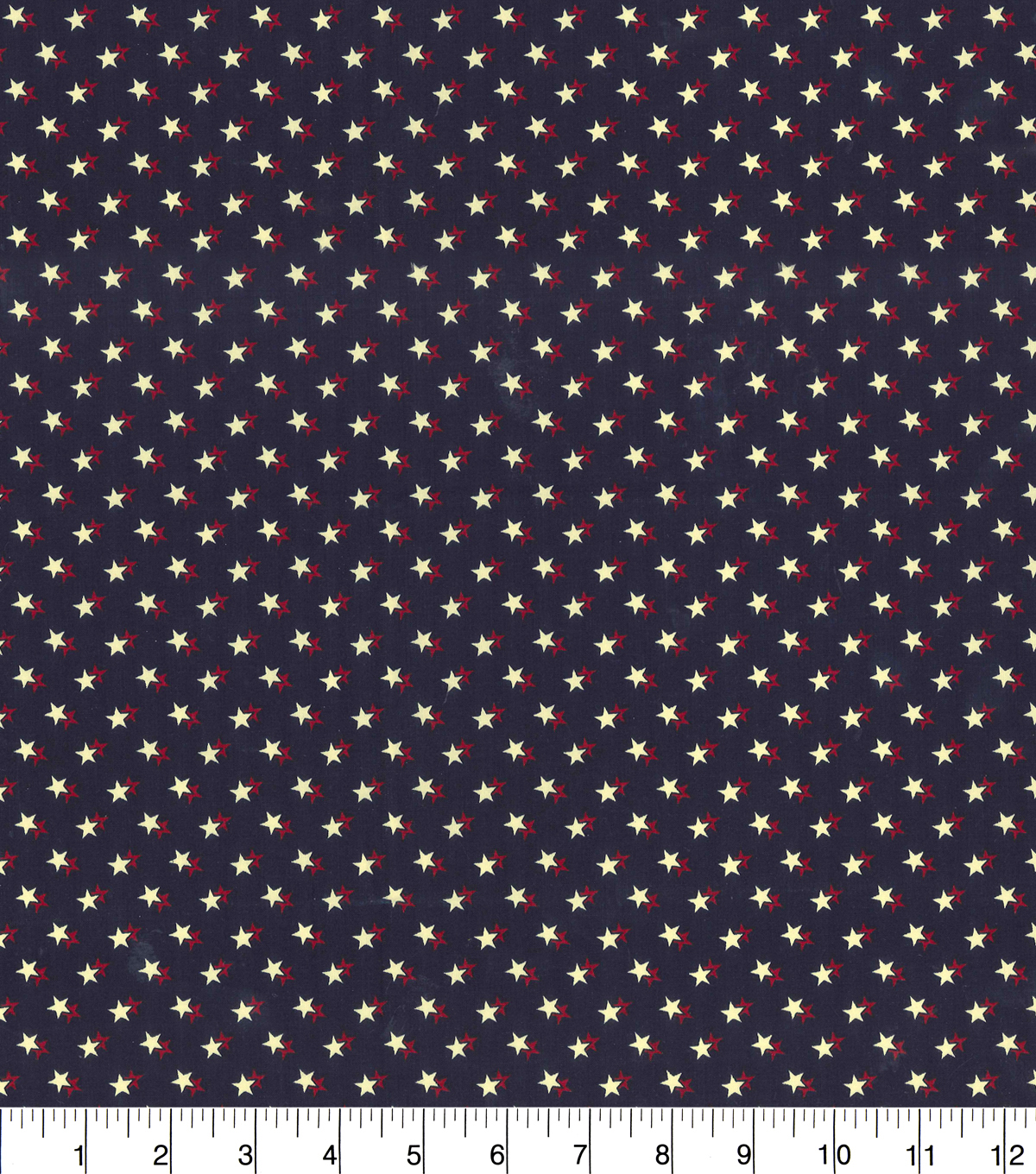Patriotic Cotton Fabric-Star On Star Blue Rustic