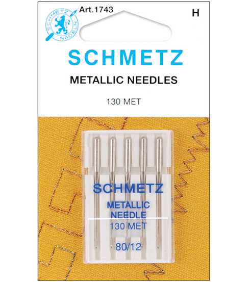 Schmetz Metallic Machine Needles 5pcs Size 80/12