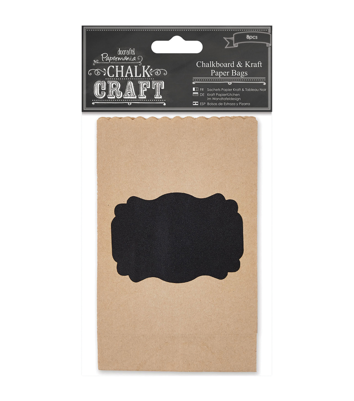 Papermania Chalk Craft Papermania Chalkboard & Kraft Paper Bags