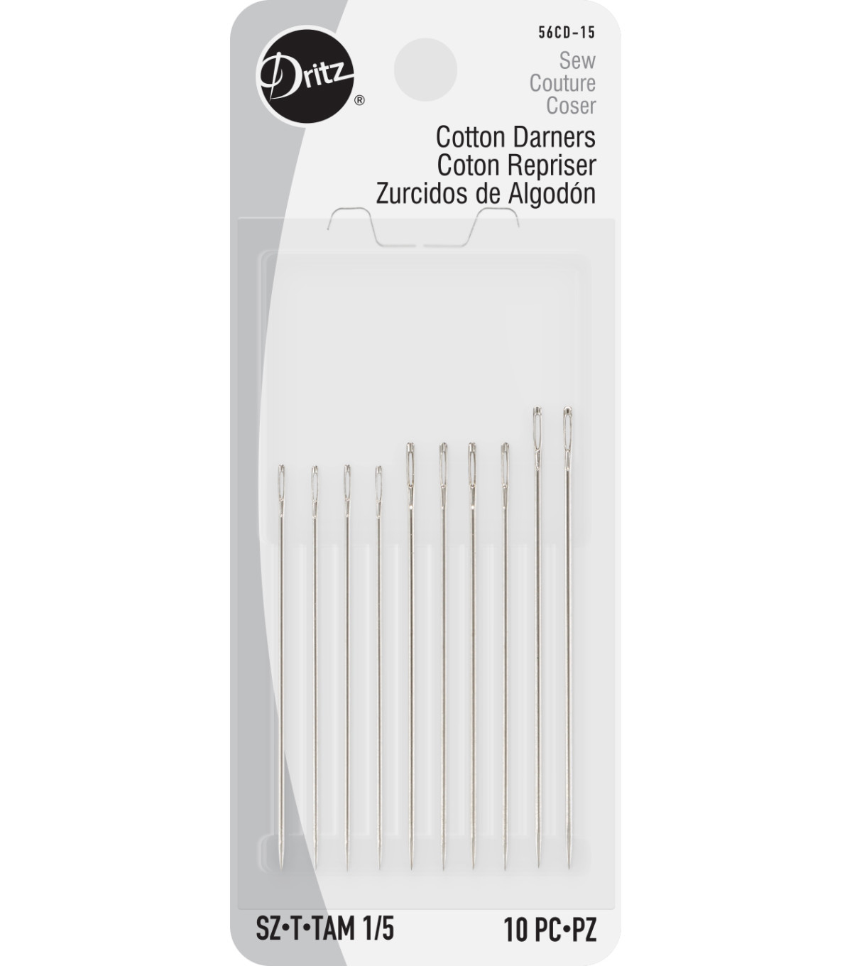 Cotton Darners Hand Needles-Size 1/5 10/Pkg