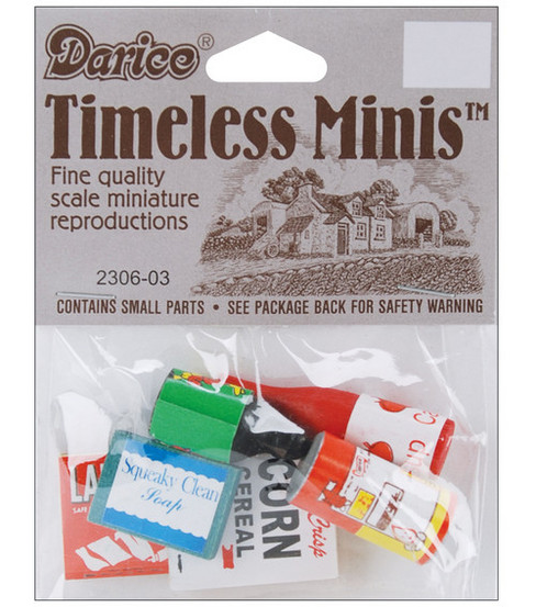 Darice Timeless Miniatures Groceries
