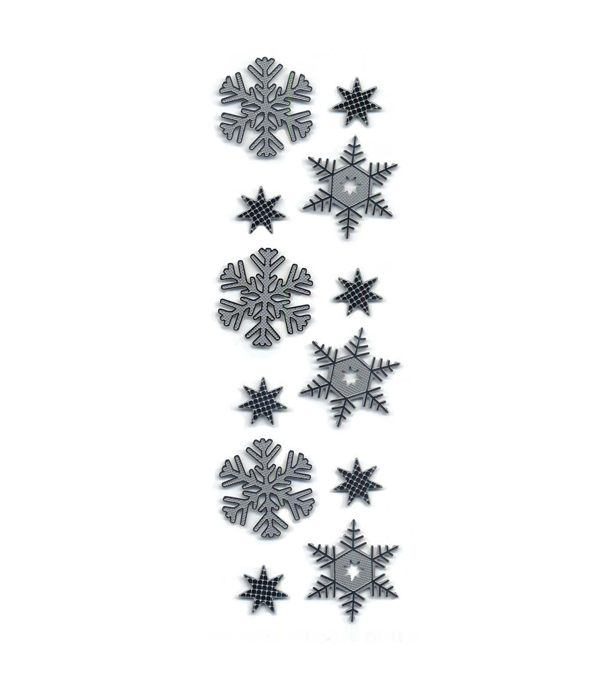 Metal Snowflake Stickers