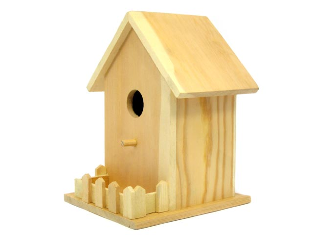 Large Birdhouse with Fence