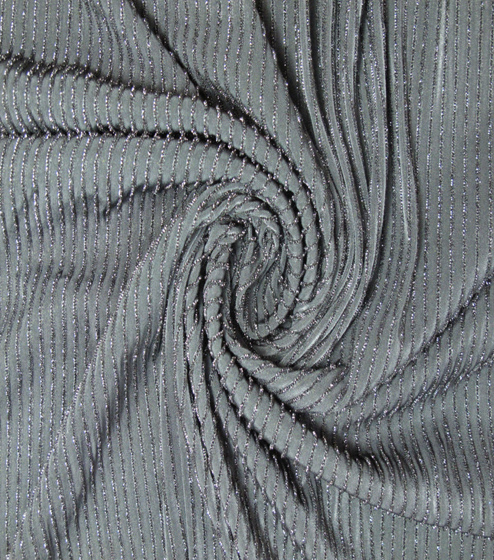 "Nicole Miller Metallic Knit Fabric 58""-Black"