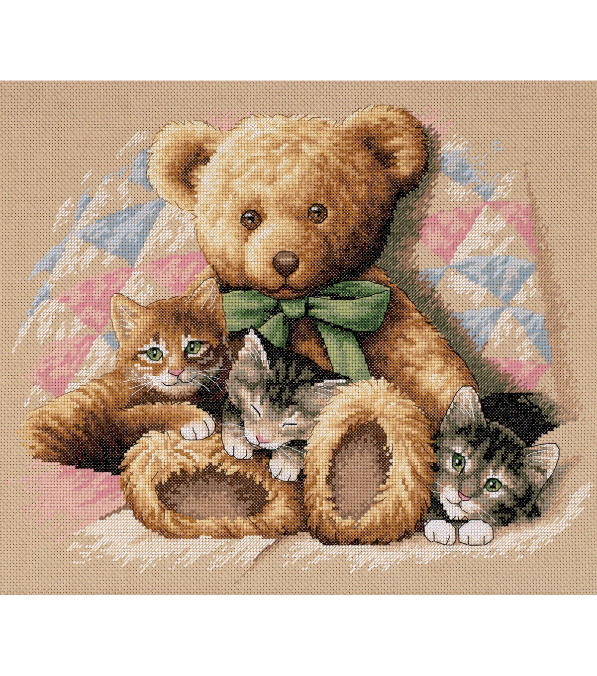Dimensions Teddy & Kittens Counted Cross Stitch Kit