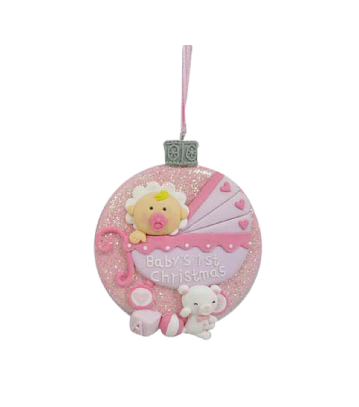 Maker's Holiday Baby Girl's First Christmas Ornament