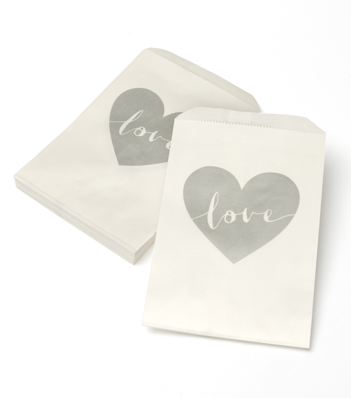 Save The Date™ Pack of 24 Favor Bag-Silver Love