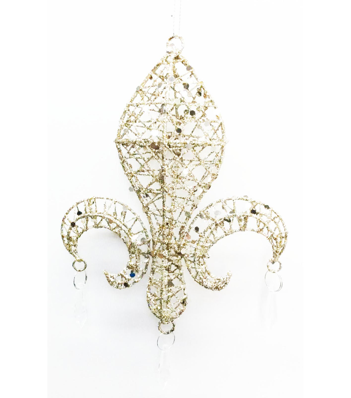 Maker\u0027s Holiday Fleur de Lis Ornament-Gold