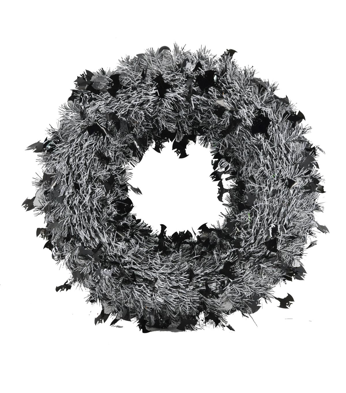 Maker\u0027s Halloween Tinsel Bat Wreath