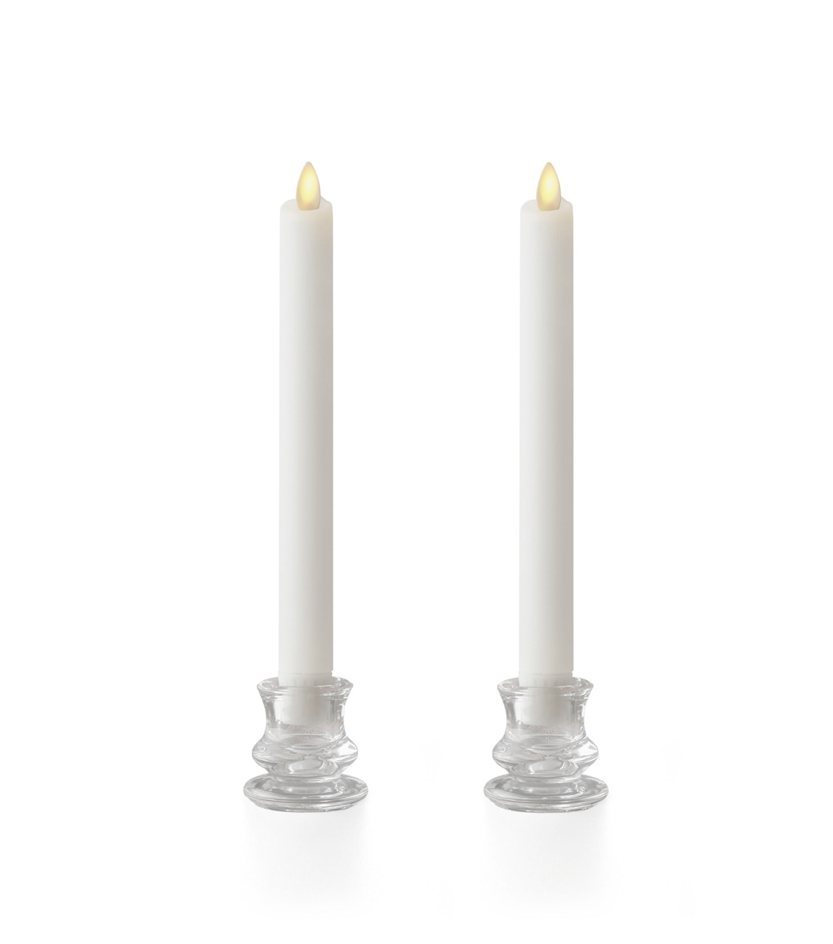 Luminara 8\u0022 Wax-Dipped Taper Candles-Ivory