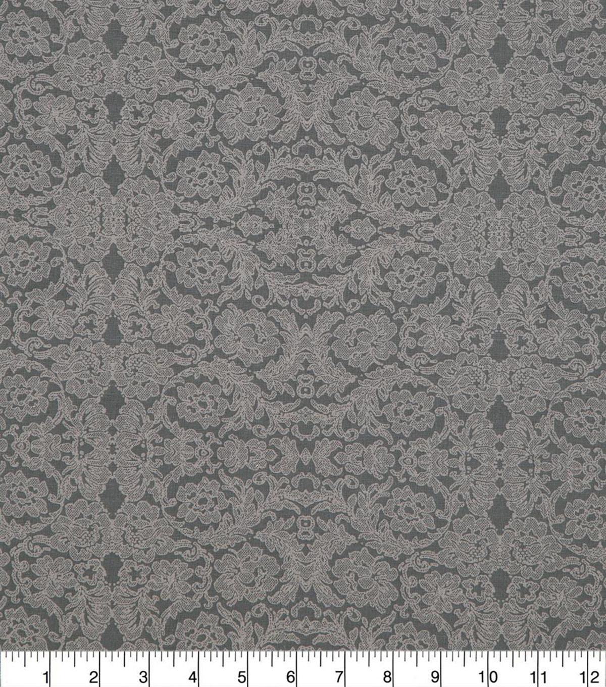 Wide Prints Fabric 108\u0022-Lace Gray