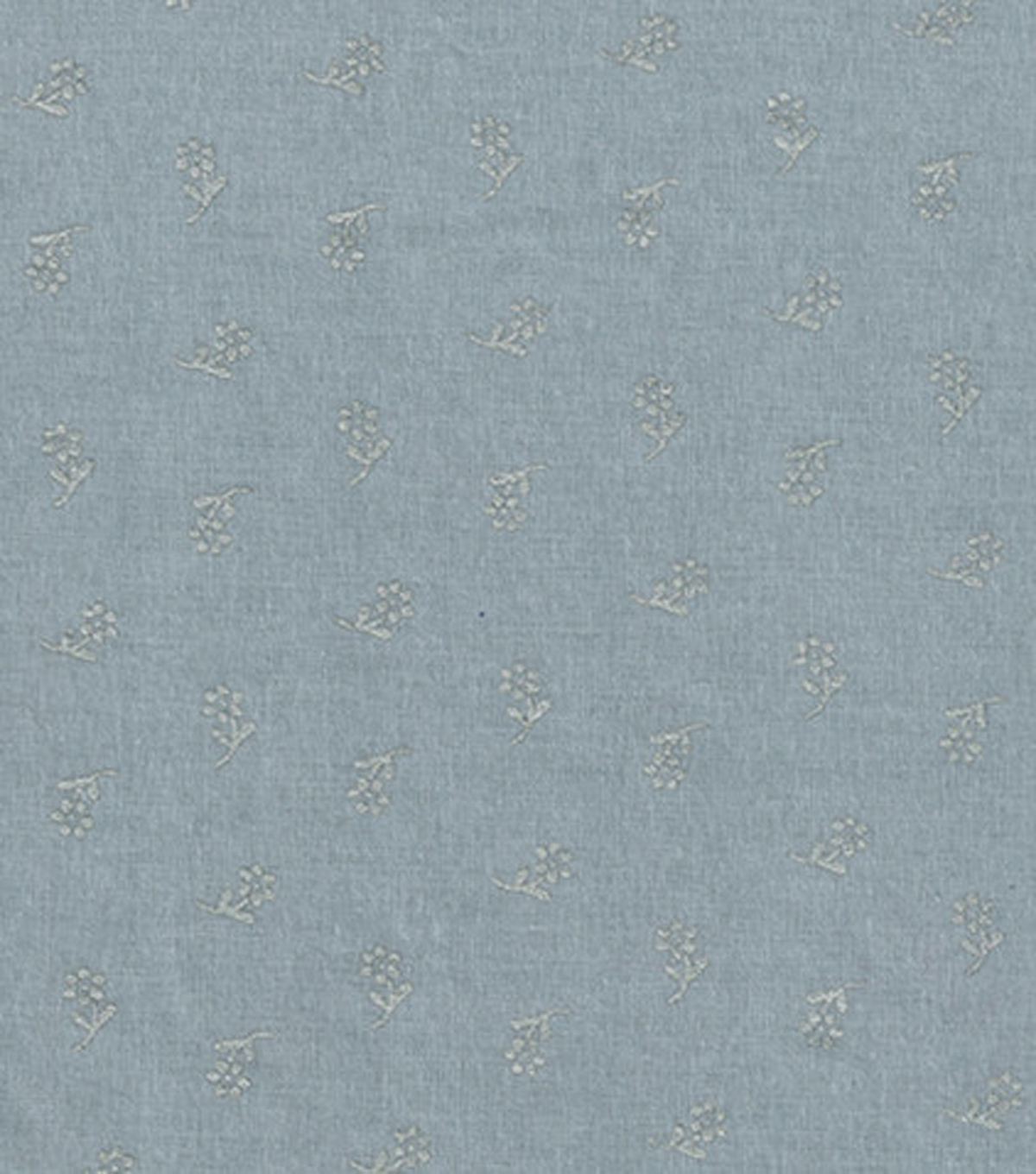 "Keepsake Calico™ Cotton Fabric 43""-Flowers On Gray With Silver Metallic"
