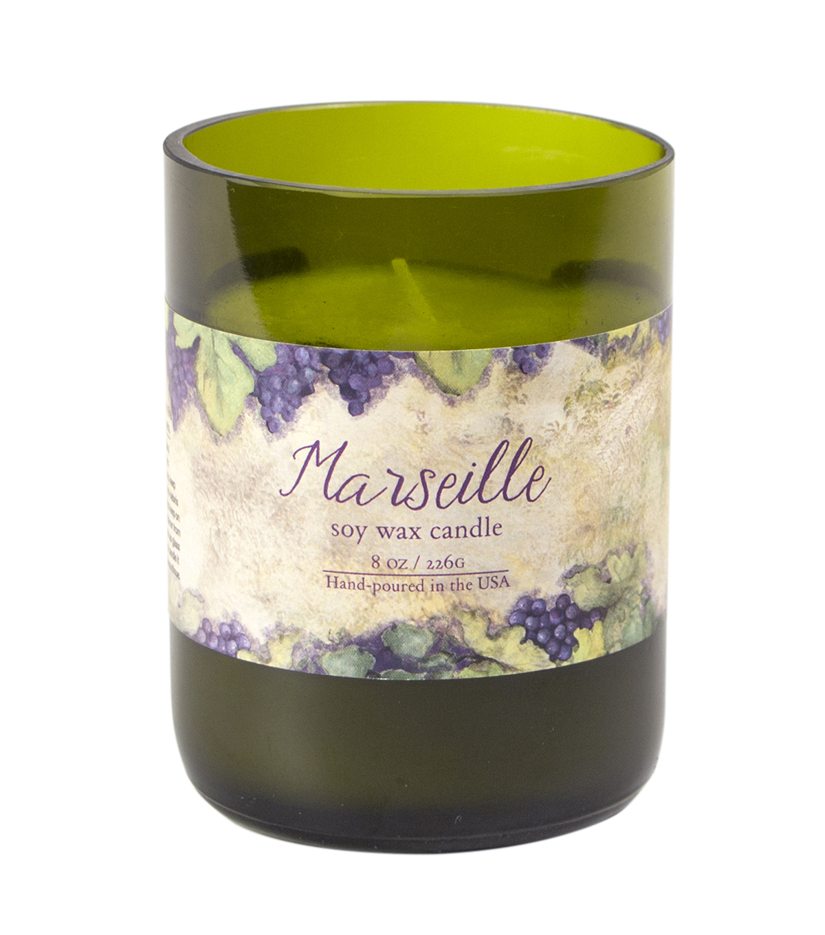 Susan Winget Eco Green Glass Candle Marseille 9 ounce
