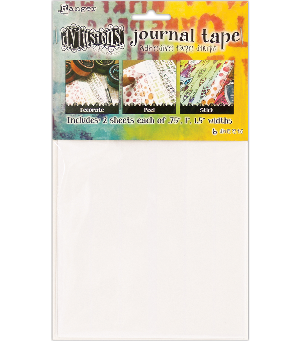 Dyan Reaveley\u0027s Dylusions Journal Tape Strips