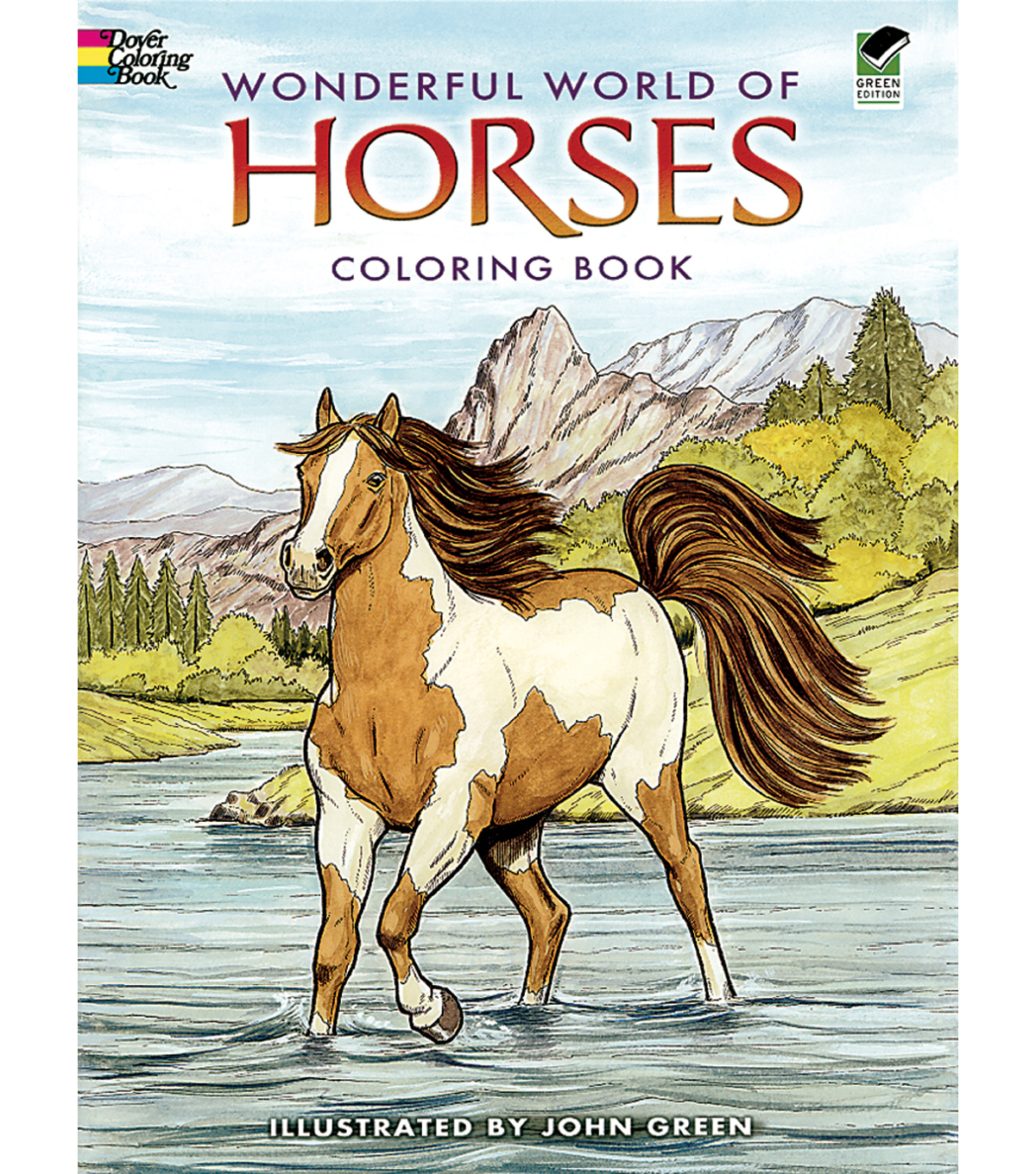 Adult Coloring Book-Dover Publications Wonderful World Of Horses