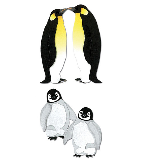 Jolee\u0027s By You Dimensional Slim Stickers-Penguins