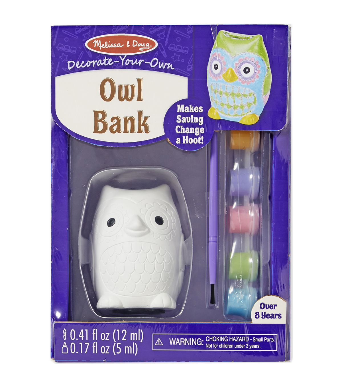 Melissa & Doug Decorate-Your-Own Bank Kit-Owl