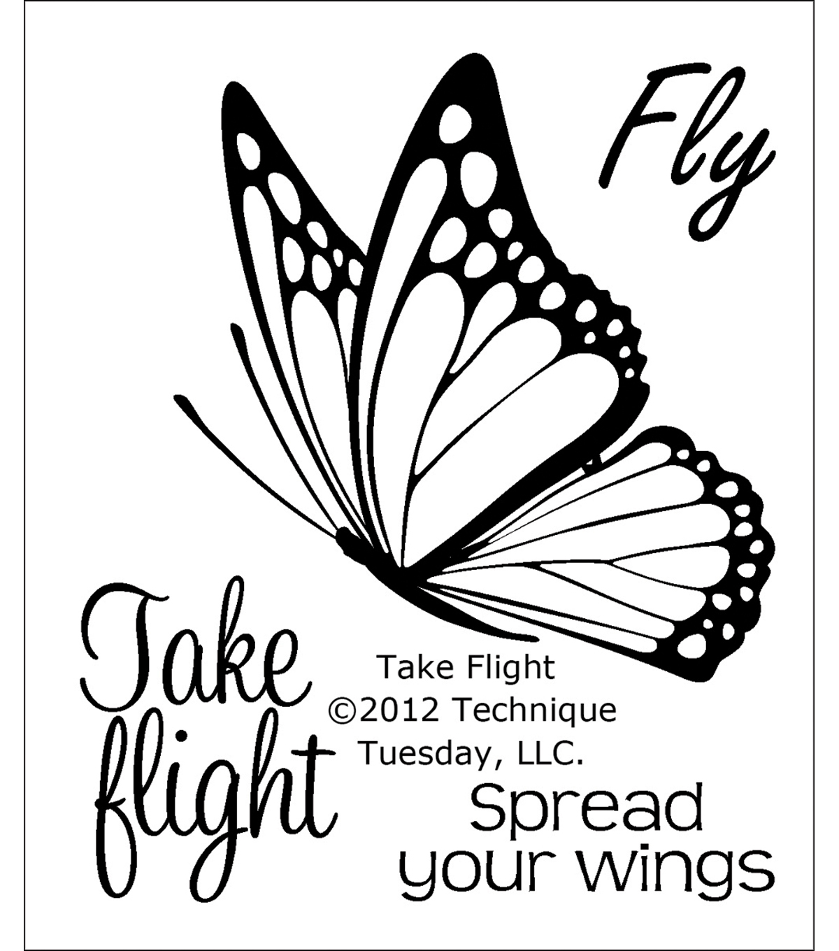 Clear Stamps 2\u0022X2.5\u0022-Take Flight
