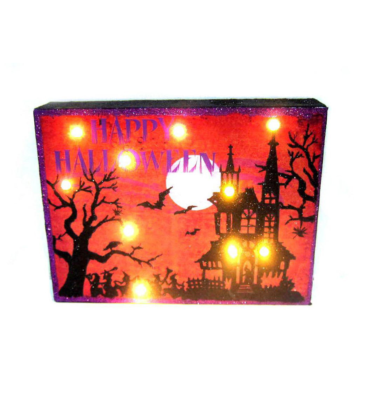 Maker's Halloween LED Table Decor-Haunted House