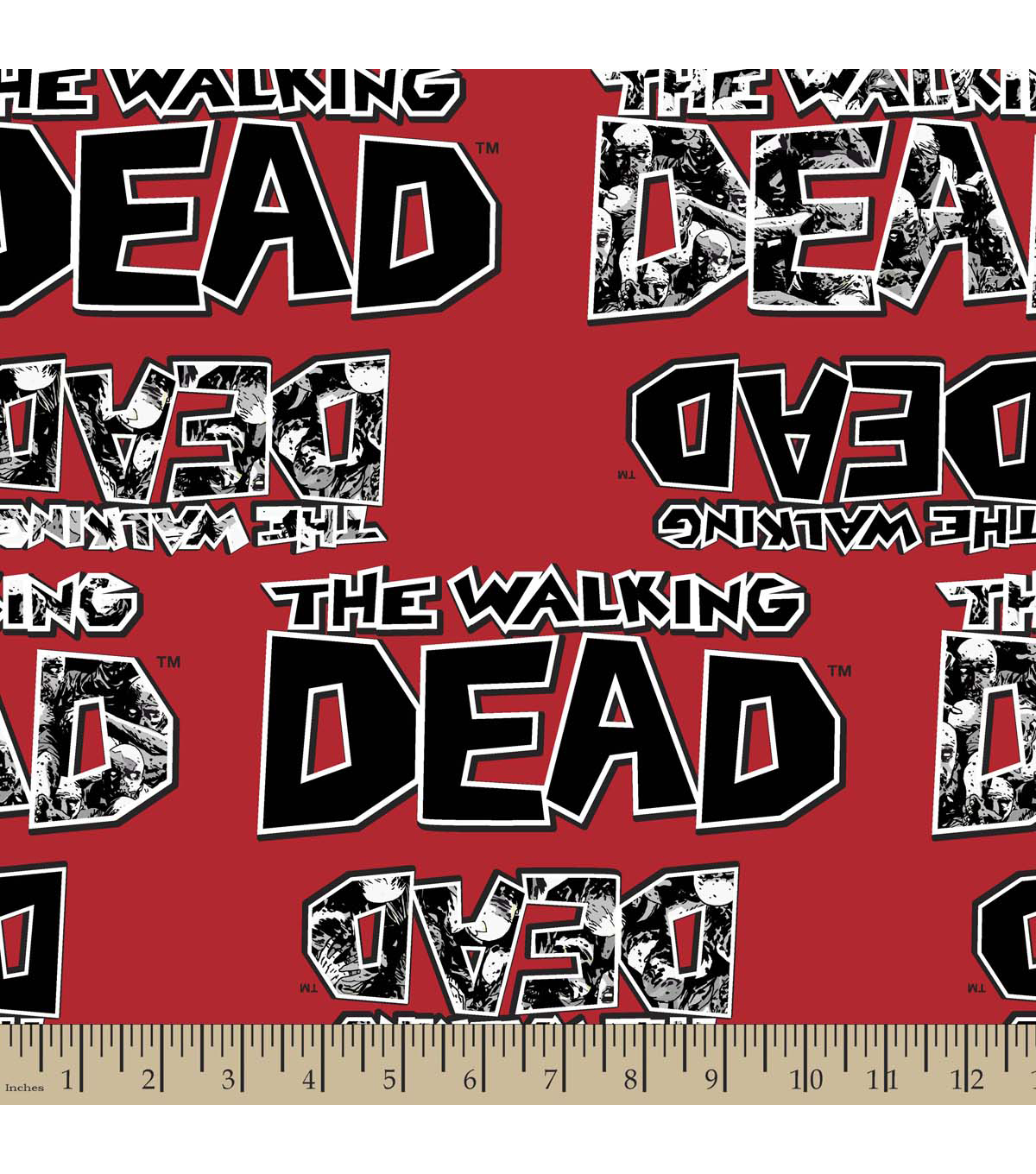 The Walking Dead Zombies Cotton Fabric