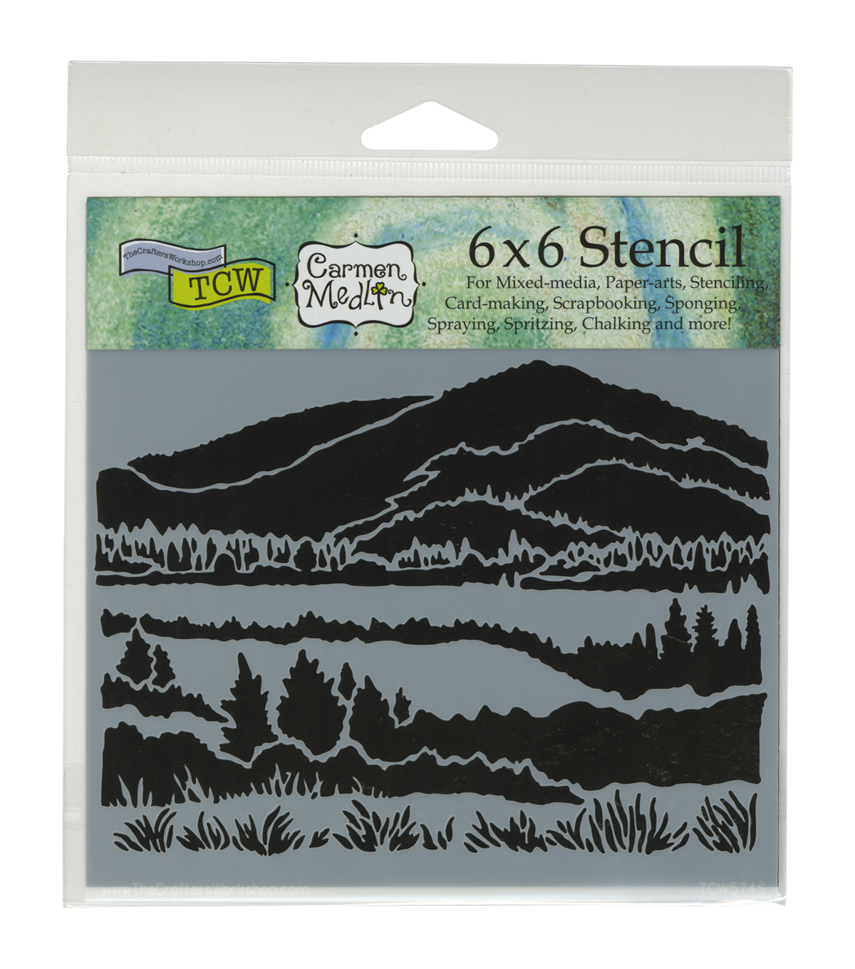 Crafter's Workshop 6''x6'' Template-Mountain View