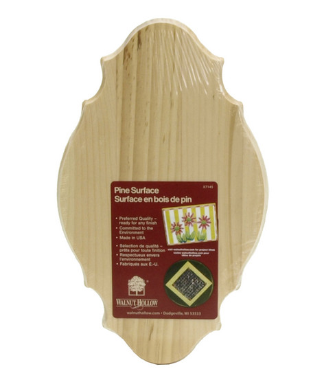 Walnut Hollow Pine Plaques-6\u0022x10\u0022x5/8\u0022/French Porvincial