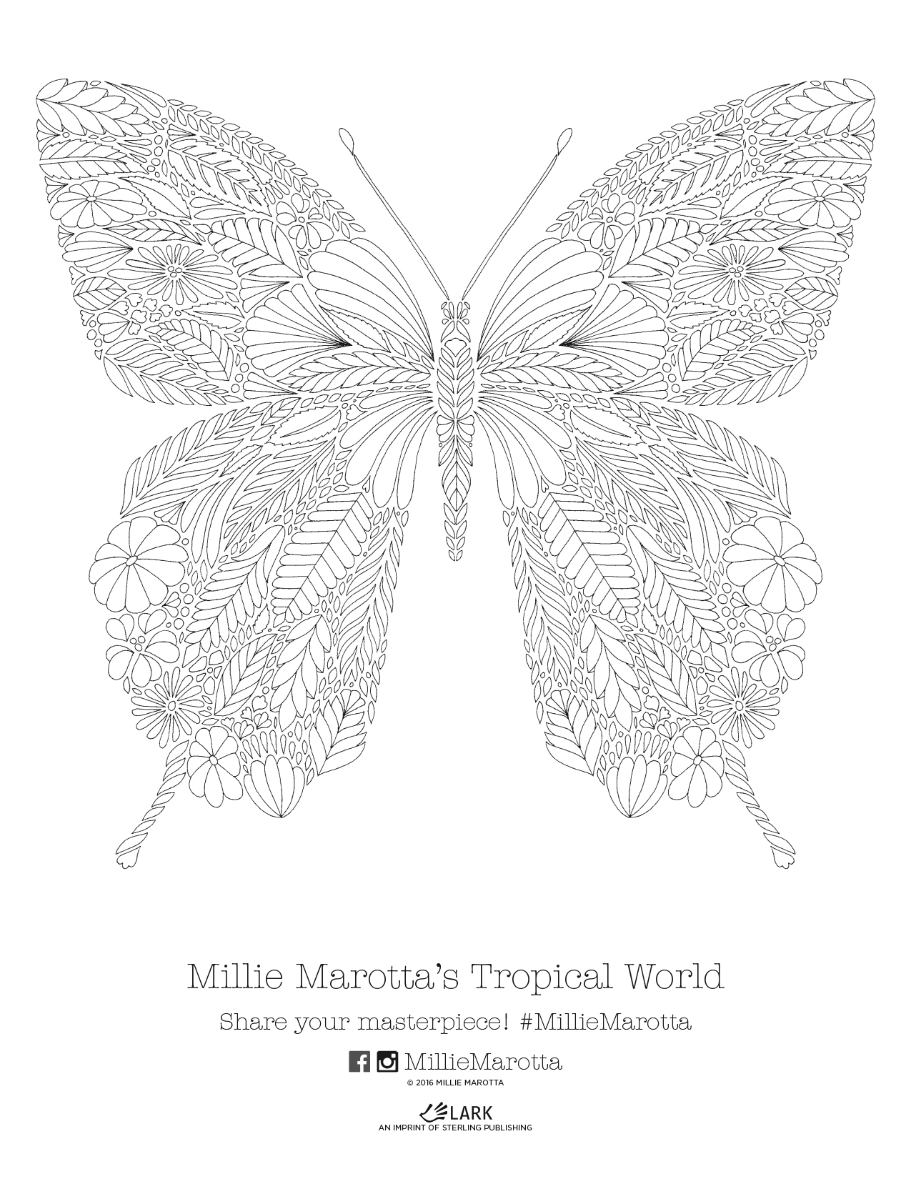 Tropical World Coloring Book Printables