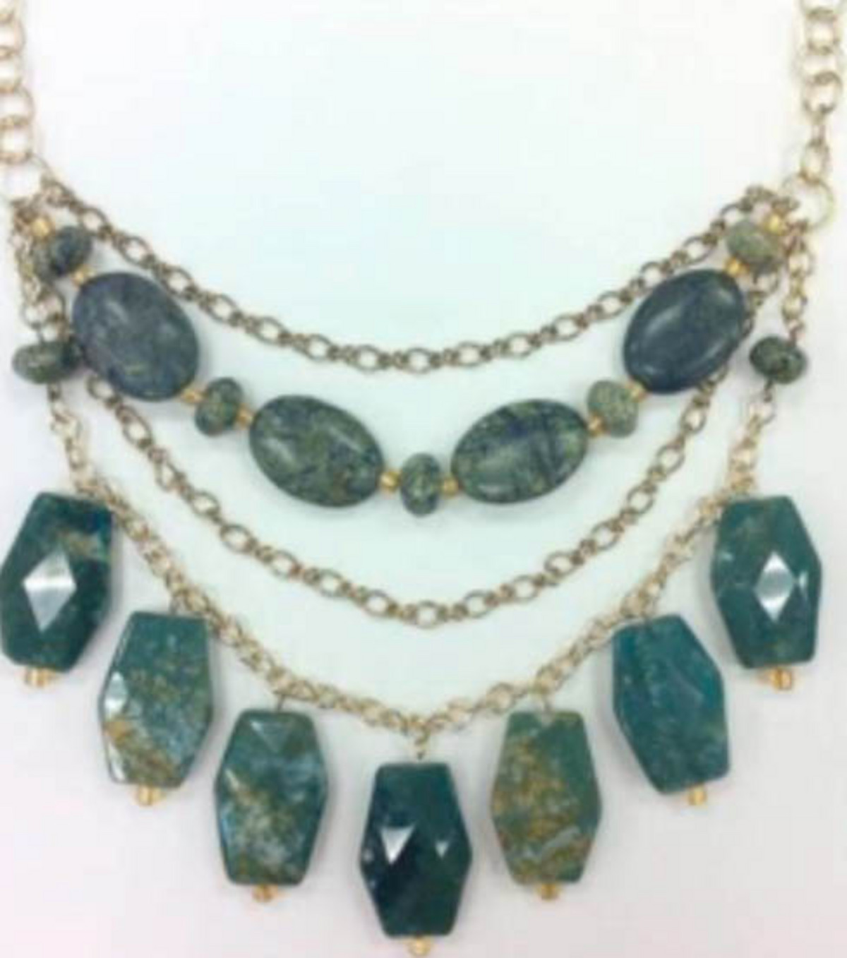 Moss Agate Statement Necklace