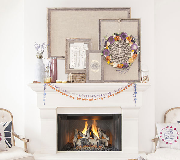 How To Make Autumn Mantel Garland