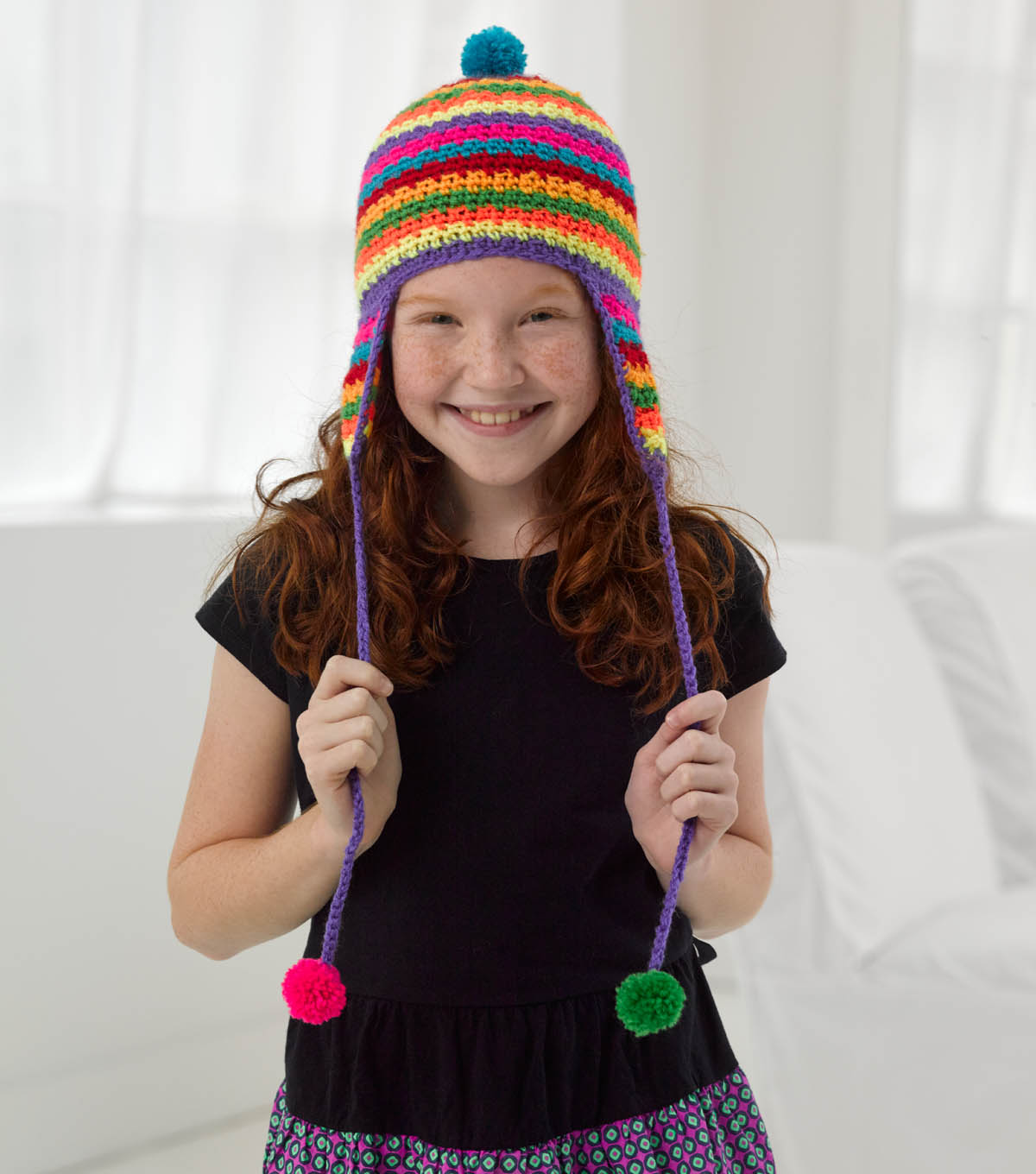 Bonbons Colorful Earflap Hat