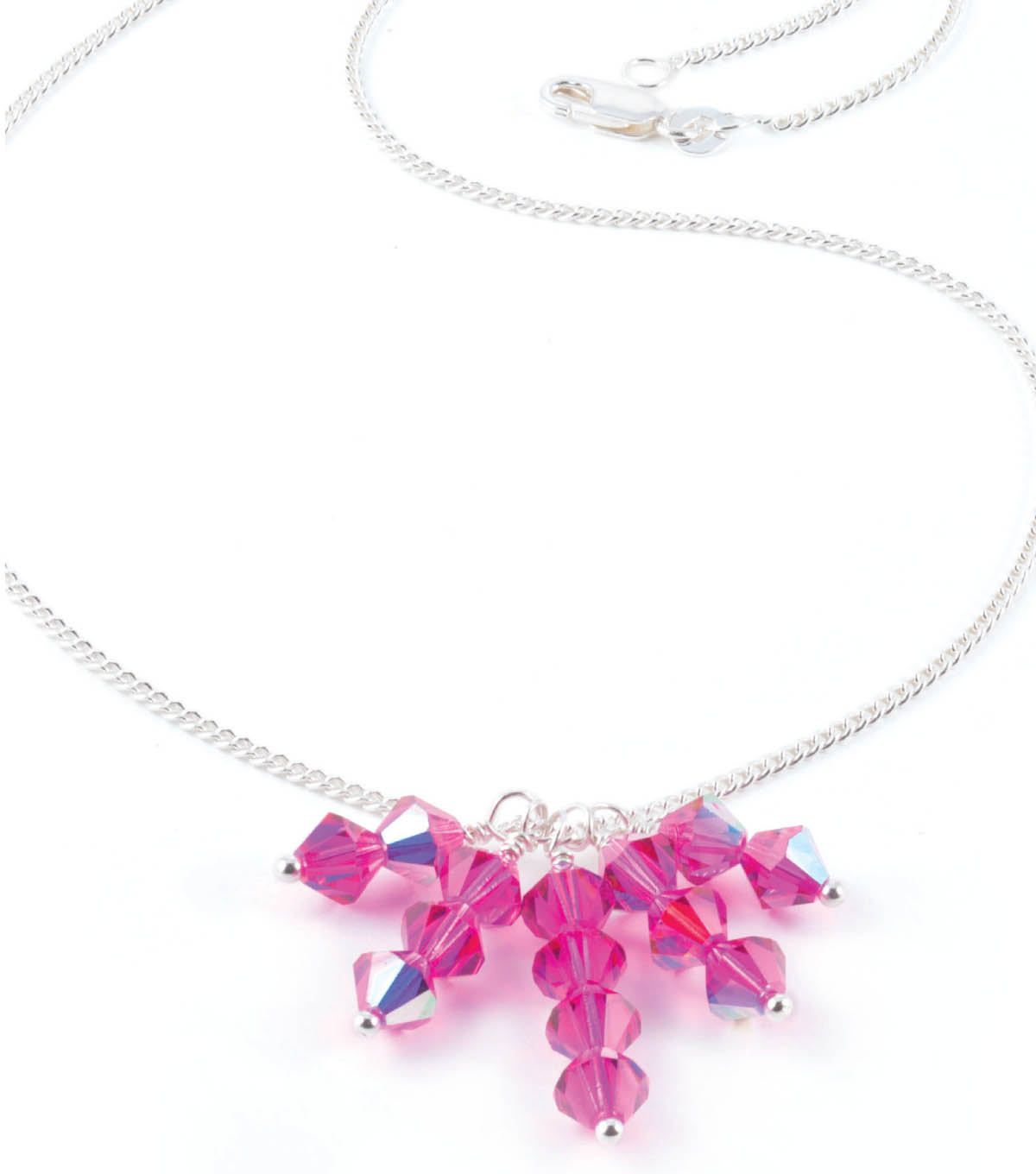 Crystal Bicone Drop Necklace