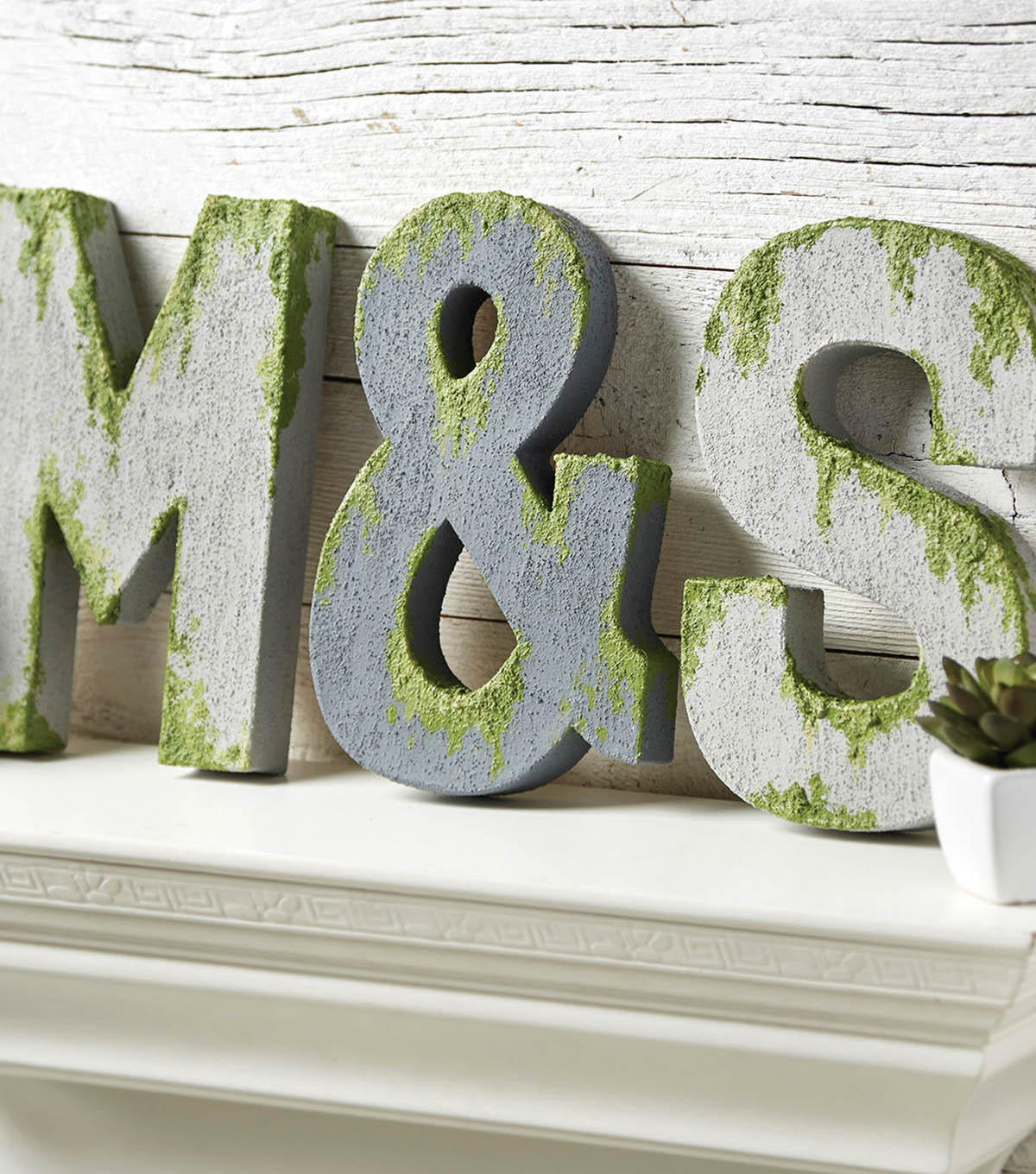 How To Make Concrete Painted Letters