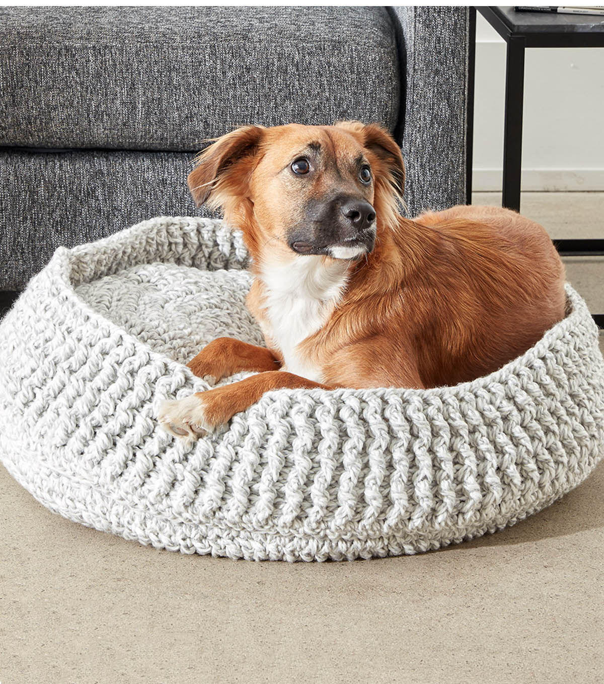 Make A Crochet Pet Bed