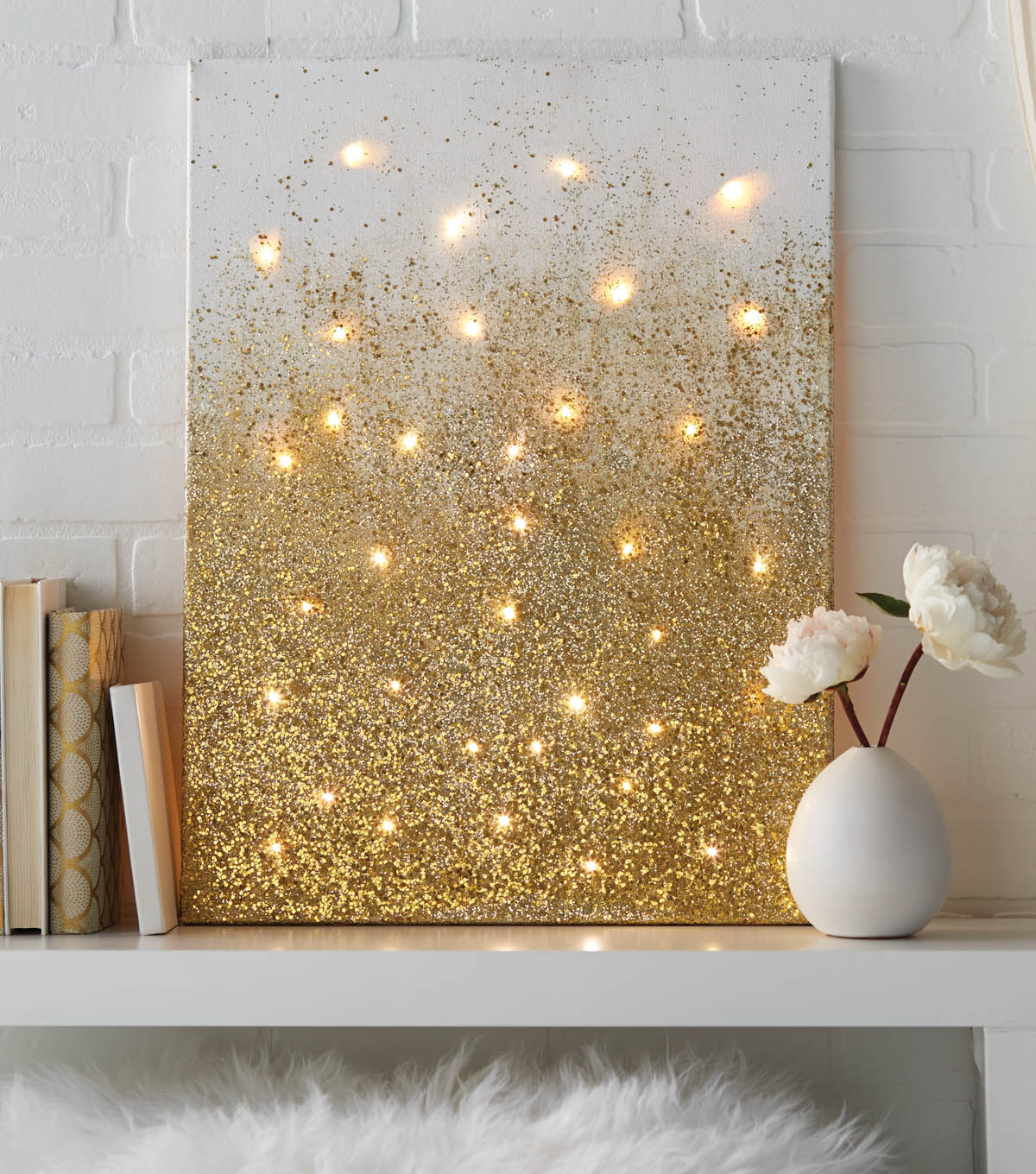 How To Apply Glitter To A Canvas Painting