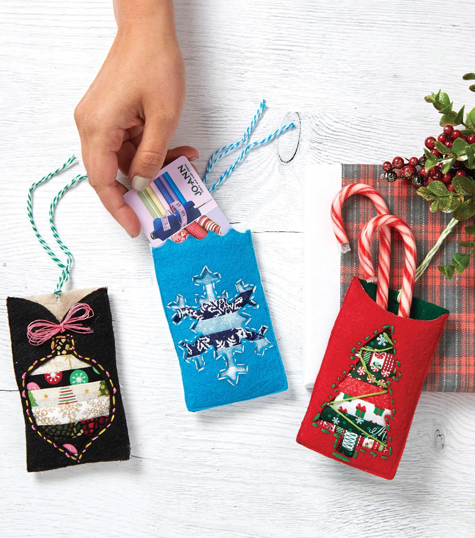 Diy Christmas Gift Card Holder: Felt Gift Card Holders - DIY Gift Cards