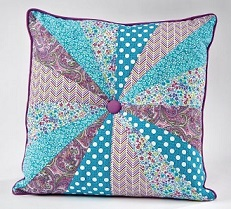 Pinwheel Button Pillow
