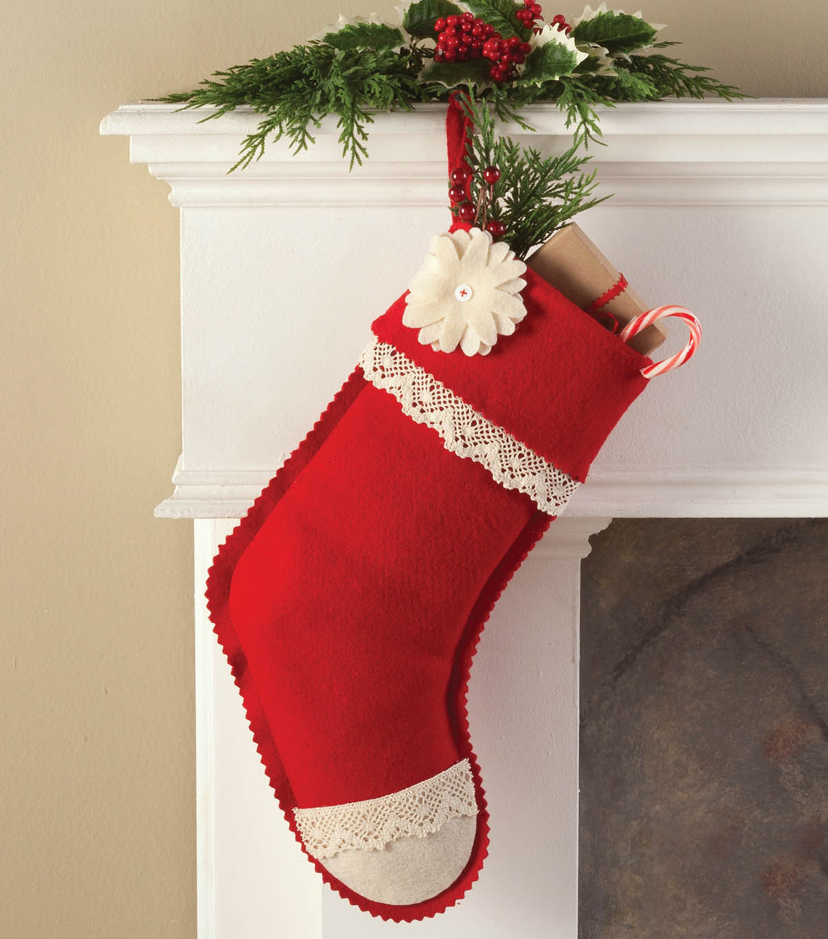 Embellished Felt Stocking