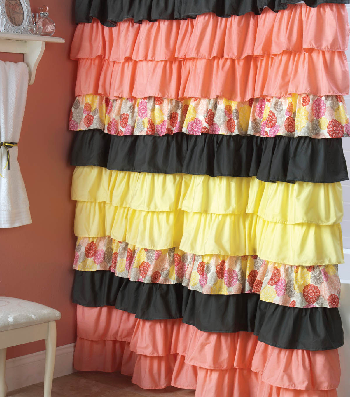 DIY Ruffle Shower Curtain - DIY Projects | JOANN