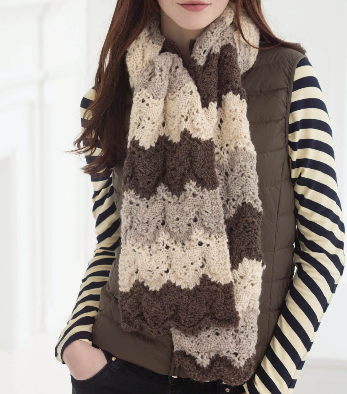 Fishermen's Wool Lace Scarf