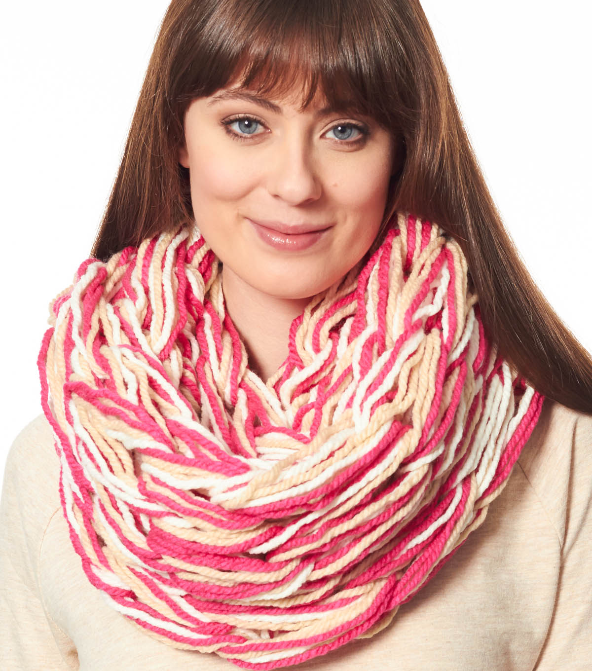 Pink Arm Knit Cowl