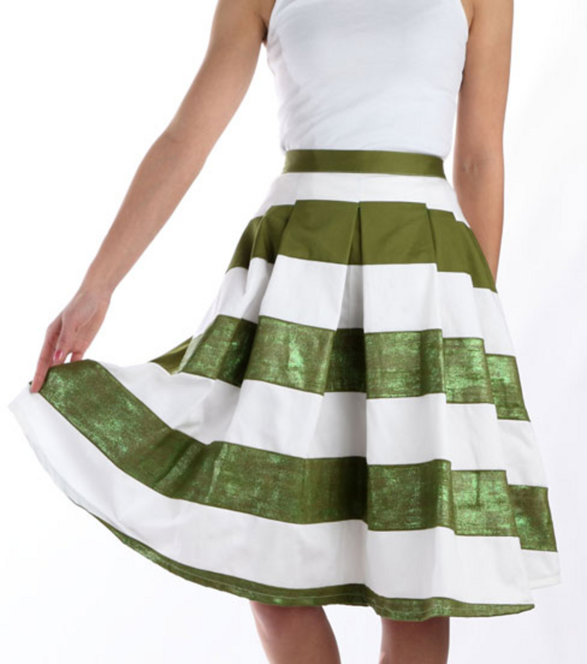 Lucky Stripes Shimmer Skirt