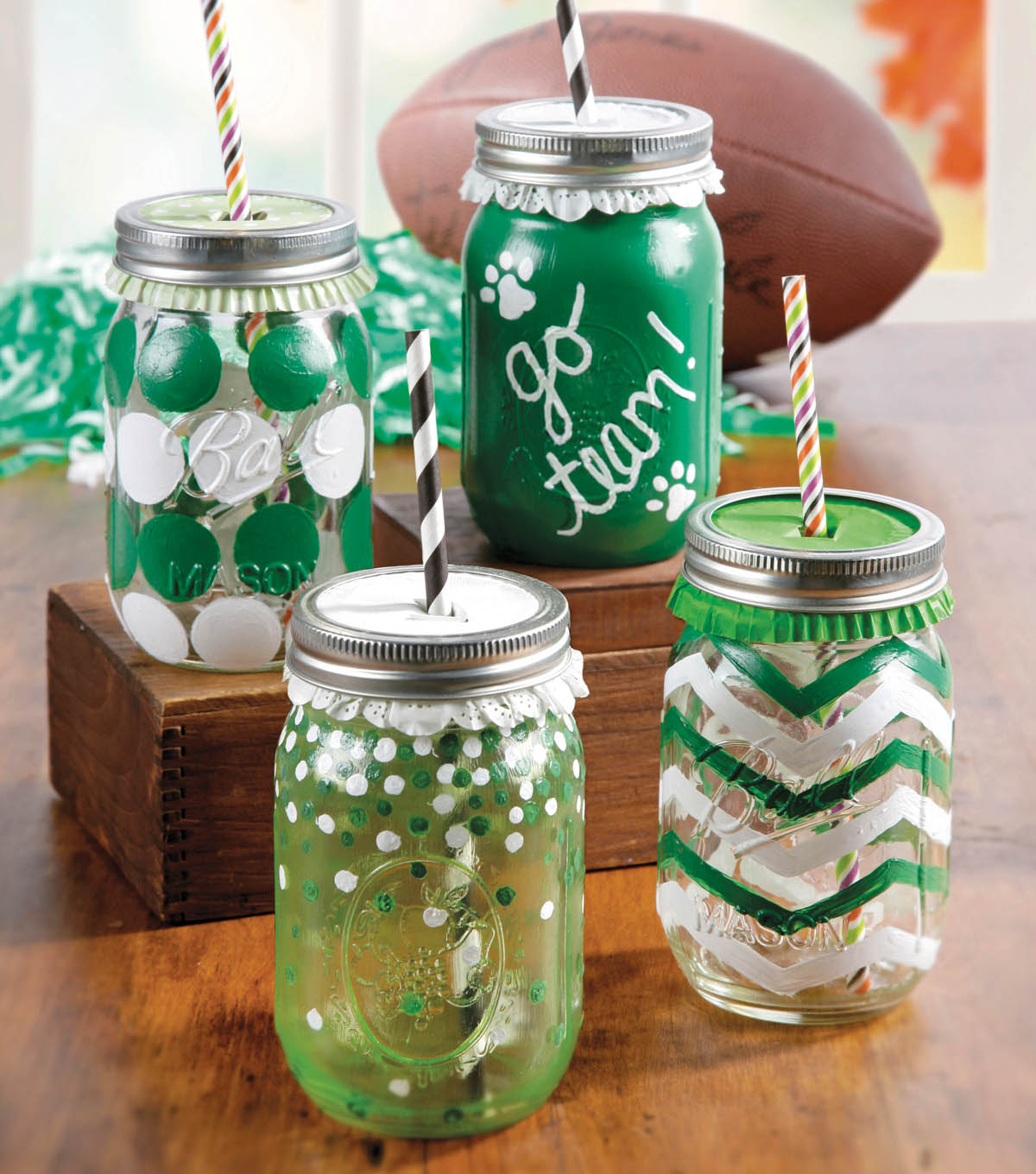 Go Team & Shapes Mason Jars