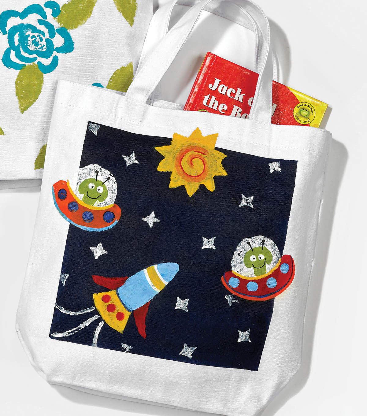 Vegetable Print Alien Tote
