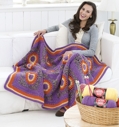 Crochet Circles Throw