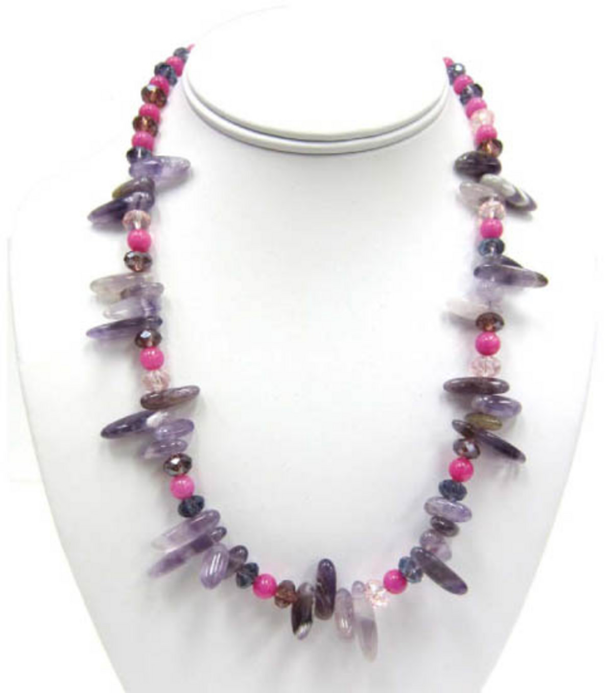 Bliss Purple & Pink Necklace