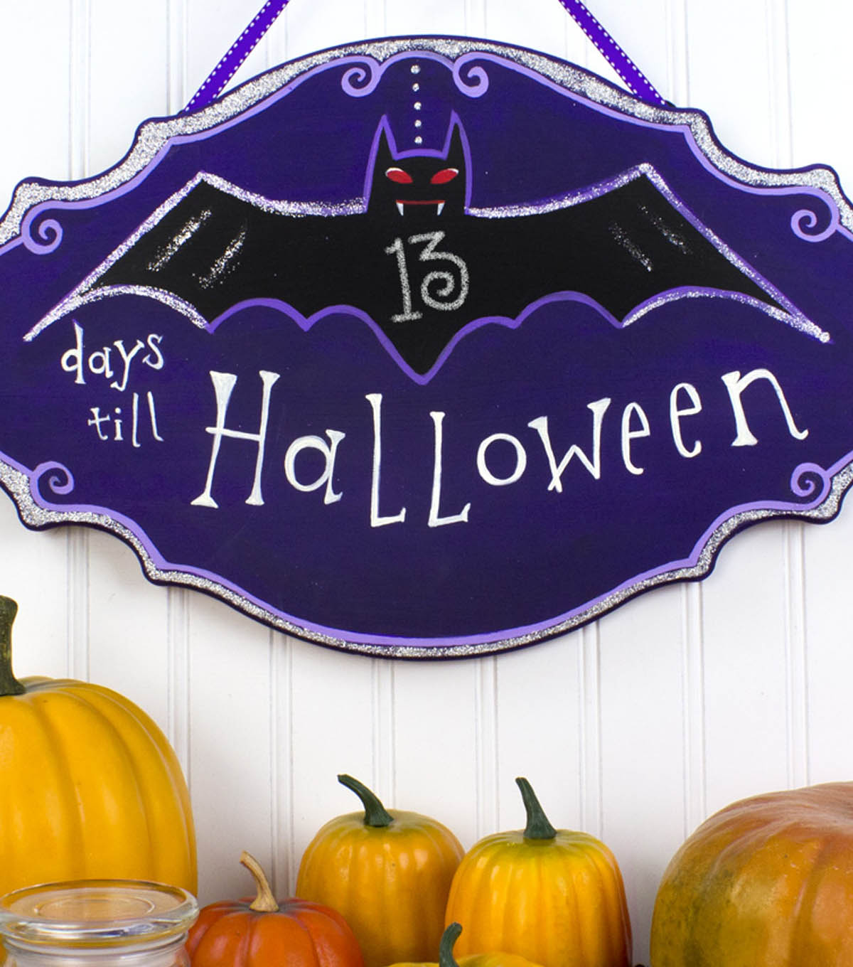 Halloween Bat Plaque