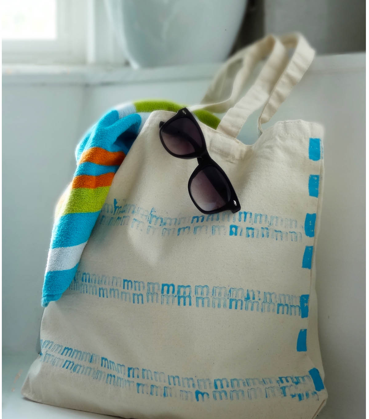 Personalized Summer Tote Bag